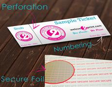 Uk Foil Ticket Printing