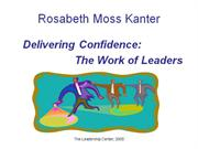 Delivering Confidence The Work of Leaders