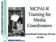 Training for Media Coordinators