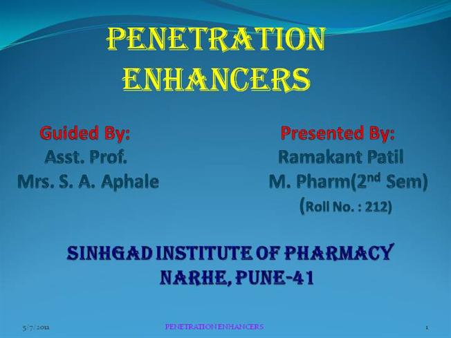 Edition enhancers penetration percutaneous second