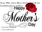 Mother's Day Greetings From across the miles