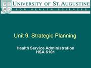 Unit 09 Strategic Planning