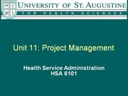 Unit 11 Project Mgt