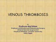 VENOUS THROMBOSIS corrected