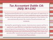 Tax Accountant Dublin CA: (925) 361-2382