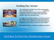 one wedding day - wedding day venues