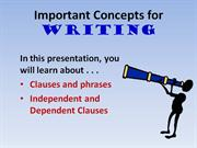 important concepts for writing