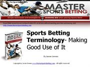 Sports Betting Terminology- Making Good Use of It