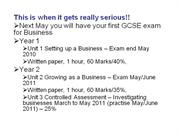 gcse business section 1