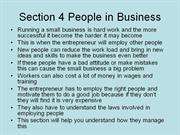 gcse business studies yr10 section 4 people