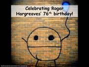 Roger Hargreaves on his 76th birthday