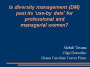 DM and managerial women