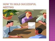 How to Hold Successful Meeting