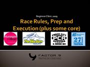 beginner triathlon race rules, preparations and execution