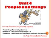lesson 3 - possessions and personality