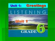 English 6 - Unit 1 - Greetings