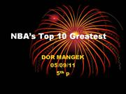 NBA�s Top 10 Greatest dor mangek