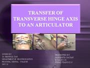 TRANSFER OF TRANSVERSE HINGE AXIS TO AN ARTICULATOR