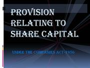 provisions relating to share capital