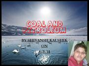 COAL AND PETROLEUM BY SHIVANSH