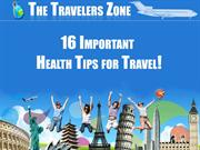 16 important health tips for travel!