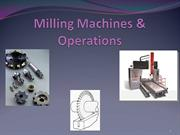 Milling Machines and Their operation