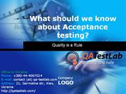 what should we know about acceptance testing?