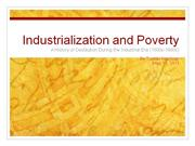 Industrialization and Poverty