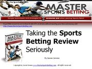 Taking the Sports Betting Review Seriously
