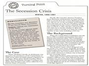 Case Study The Secession Crisis