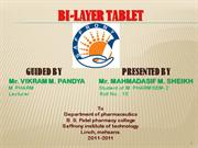 bi-layer tablet