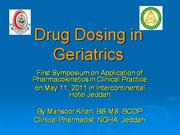 drug dosing in geriatrics
