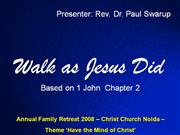 Walk as Jesus Did