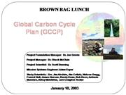Global Carbon Cycle Plan