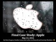 apple case study - final presentation