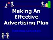 making an effective advertising plan