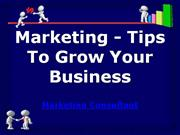marketing - tips to grow your business