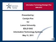 CPoe - EDLD 5362 Information Technology Strategic Plan for LSCS w-narr