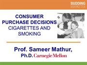 Cigarettes Then and Now (Professor Mathur)