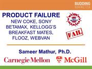 Colossal Product Failures (Professor Mathur)