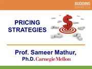 Pricing Strategies (Professor Mathur)