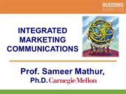 Integrated Marketing Communication (Professor Mathur)
