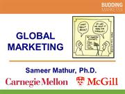 Introduction to Global Marketing (Professor Mathur)