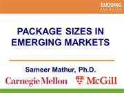 Packaging Sizes in Emerging Markets (Professor Mathur)