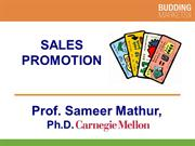 Sales Promotion Strategies (Professor Mathur)