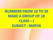 grouping of numbers from 10 to 20