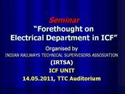 Forethought on Electrical Department in ICF