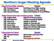 Northern Auger Meeting Agenda