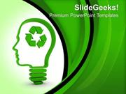 NATURE THINK ABOUT RECYCLING TECHNOLOGY PPT TEMPLATE