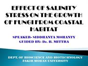 EFFECT OF SALINITY STRESS ON THE GROWTH OF